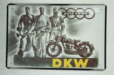 Alte Motorrad Blechschilder by Blechschild Motorrad Von Dkw Aud Metallschild Retro Schild