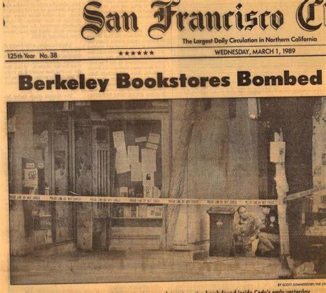 walden books nyc 25th anniversary of bombing of berkeley s s books