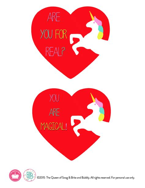 free printable unicorn valentine a rainbow unicorn valentine for valentine s day free
