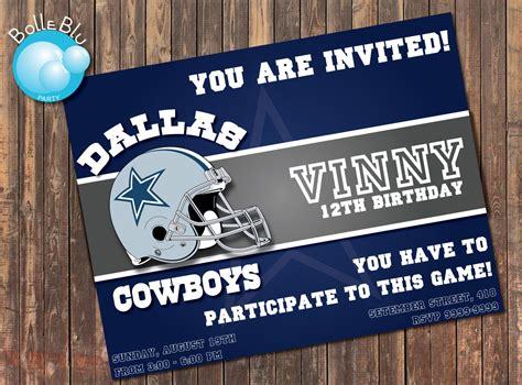 Dallas Cowboys Birthday Party Invitations Oxsvitation Com Dallas Cowboys Invitation Template