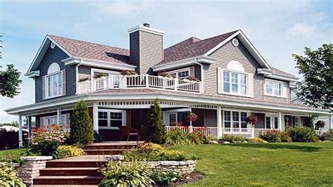 Country Home Plans Wrap Around Porch Home Designs With Porches Houses With Wrap Around Porches