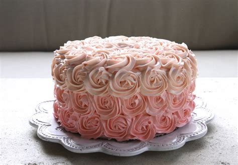 Home Decorating Channel Pink Ombre Rosette Cake Eat Drink Garden Santa