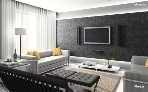 black leather sofa with black wall for a living room