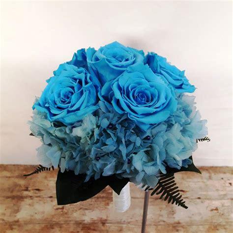 imagenes de rosas azules y negras ramo de novia rosas azules preservado 110 00 flores