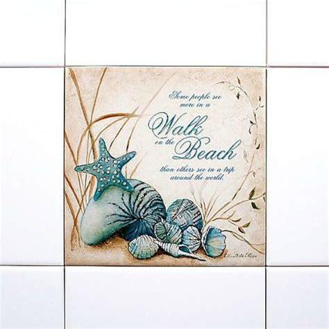 nautical tiles for bathroom nautical beach mural and blue tiles on pinterest