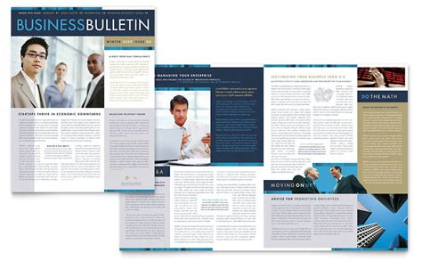 small business consulting newsletter template word