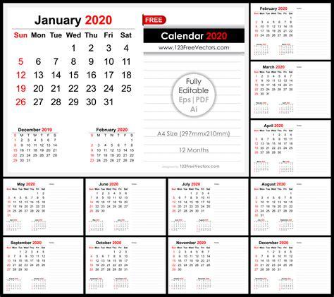 monthly desk calendar design