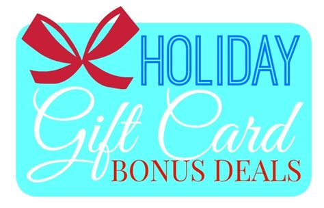 Gift Card Offers - 2015 holiday gift card bonus deals shesaved 174