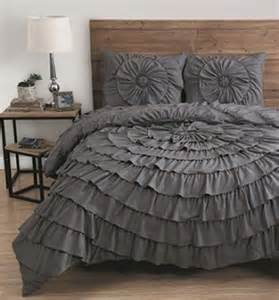 3 king size comforter set ruffle bedding bed
