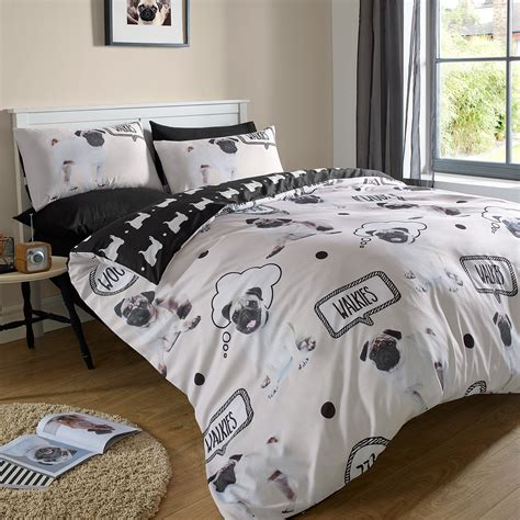 pug design quilt cover pug duvet cover with pillowcase quilt bedding set walkies