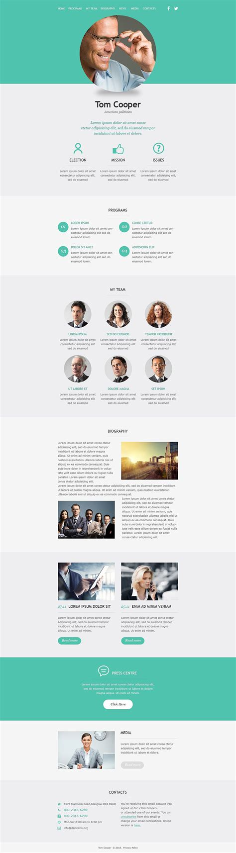 political candidate responsive newsletter template 53101