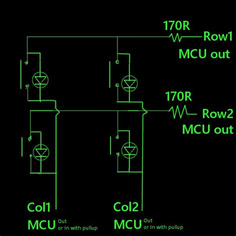 led multiplexing resistor multiplexing 32 buttons and 32 leds page 1