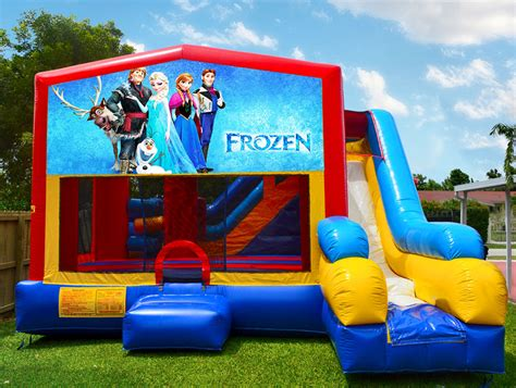 rental bounce house 7in1 frozen bounce house rental