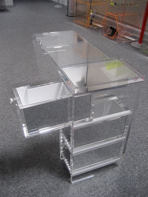 Clear Plastic Desk by Custom Acrylic Desk Modern San Francisco By