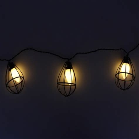 industrial string lights mini industrial bulb cage string lights
