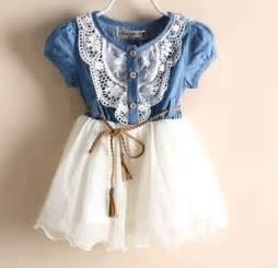Ready to ship girls denim dress girls cowgirl toddler western dress