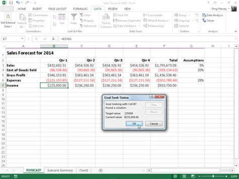 excel tutorial what if analysis what if analysis tool in excel 2013 what if analysis