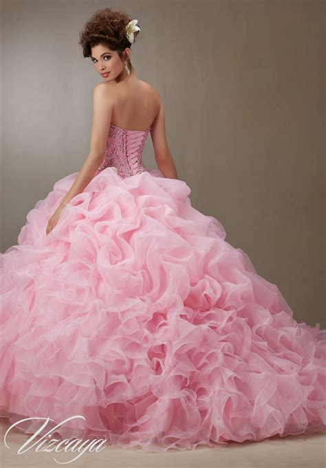 beaded bodice ruched organza skirt with beaded bodice quinceanera dress
