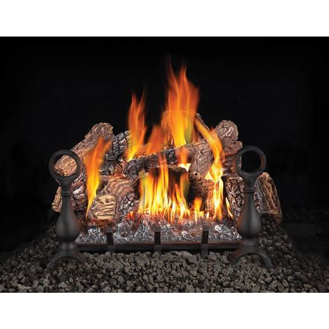 gas fireplace set napoleon 18 in vented gas log set with electronic