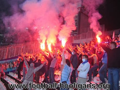 Flaring Ac Zenit ultras tifo pictures images