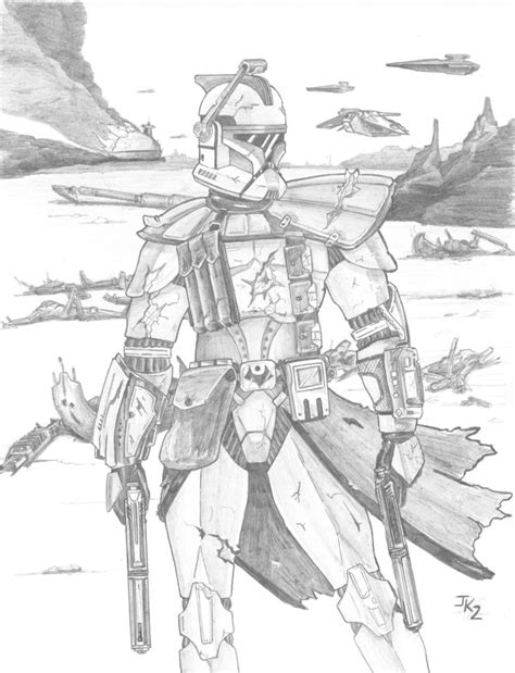 republic commando coloring pages arc trooper pencilled by kuk on deviantart