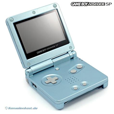 gba console gameboy advance console gba sp arctic blue blue incl