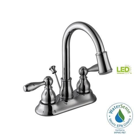 lighted bathroom faucets glacier bay mandouri 4 in centerset 2 handle led high arc