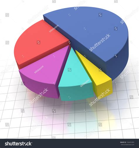 How To Make A Pie Chart On Paper - multicolored elevated pie chart on squared graph paper