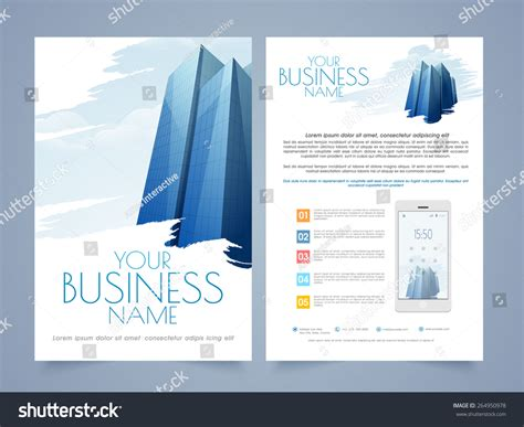 Professional Two Page Flyer Template Or Brochure Design For Real Estate Or Architect Purpose Pages Flyer Templates