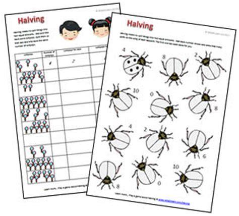 printable worksheets for halving numbers halving to 10 free printable worksheet and game what2learn