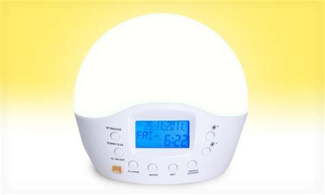 soleil sun simulating alarm clock groupon