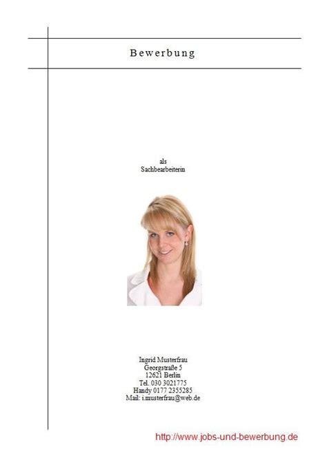 Bewerbung Deckblatt Notwendig Das Deckblatt In Der Bewerbung Kostenlose Vorlagen