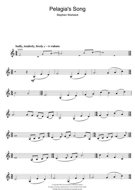 theme music captain corelli s mandolin flute sheet music at stanton s sheet music