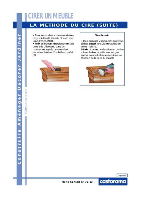 cirer un meuble