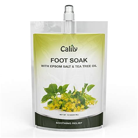 Foot Detox Spa Nc by Calily Tea Tree Foot Soak With Epsom Salt And