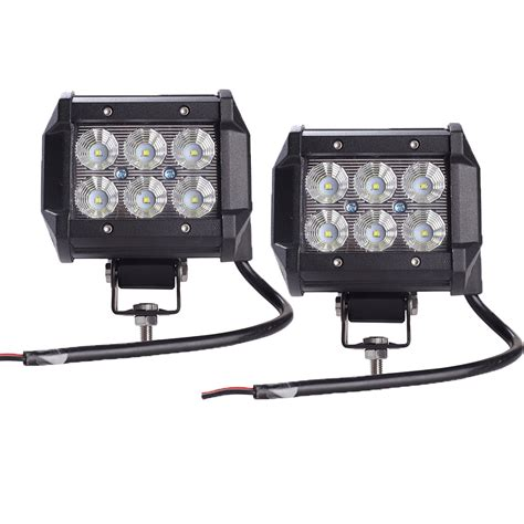 cree led offroad lights 2pcs light bar 18w work light l cree chip led 4