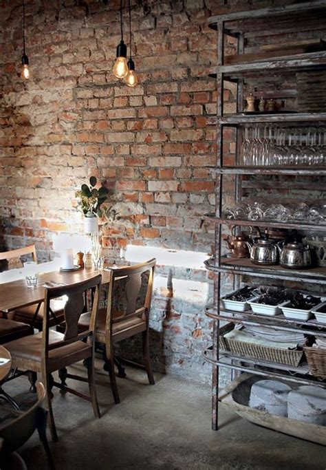 love rustic brick walls dream house pinterest