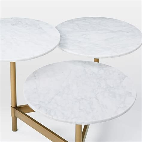 tiered coffee table tiered circles coffee table marble west elm