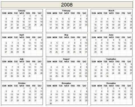 printable yearly calendar on one page year calendar on one page printable calendar template 2016