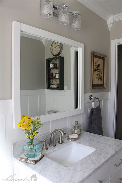 Bathroom Trim Ideas by Beautiful Cottage Style Bathroom Makeover