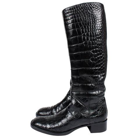 Sale Sale Sale Prada Croco Semipremi 5183 1 prada boots crocodile leather black for sale at 1stdibs
