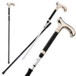 walking stick w sword inside black umbrella sword fully functional w