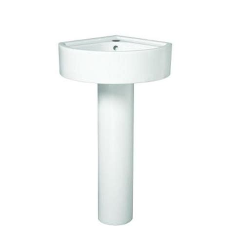 Small Corner Pedestal Bathroom Sink porcher solutions small corner pedestal combo bathroom
