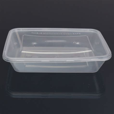 Container Microwave 1 500ml 1 25x plastic containers tubs clear with lids microwave food safe takeaway box ebay