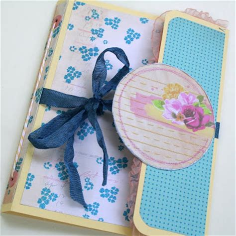 How To Make A Paper Folder At Home - bursts of creativity file folder mini album tutorial