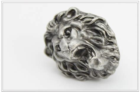 silver lion head drawer pulls new classical european contracted style lion head cupboard