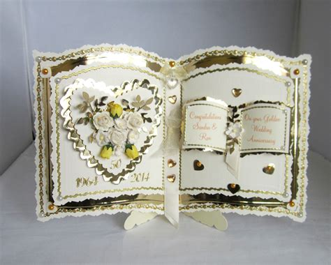 Handmade Golden Wedding Cards - bookatrix golden wedding anniversary card