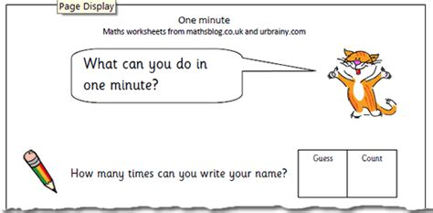 time what can you do in one minute maths blog