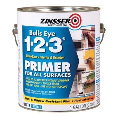 home depot zinsser paint zinsser 1 gal bulls eye 1 2 3 white water based interior