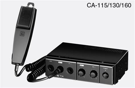 Lifier Toa 4 Speaker toa ca 130 mobile mixer lifier 30w 4 30w 8 12v dc